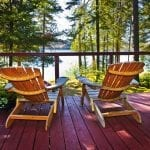 Lakefront Adirondack chairs   New York Rental By Owner