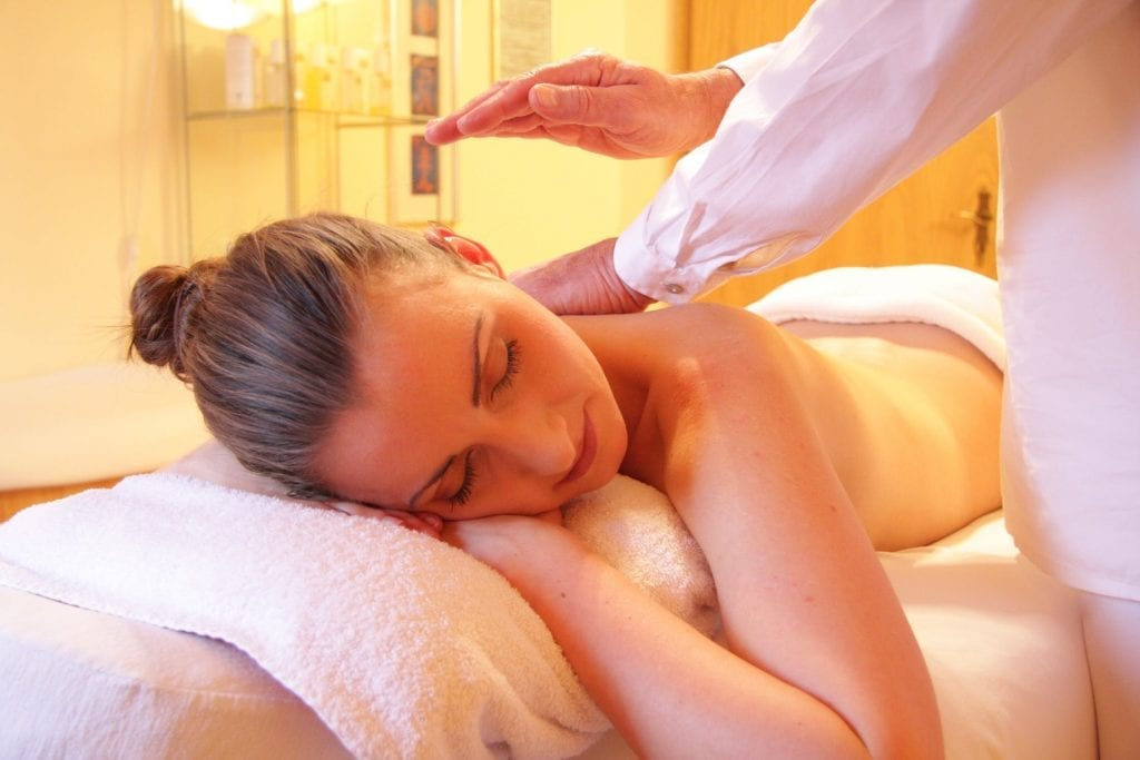 Girl in a Spa Massage at the Montauk Lake Club