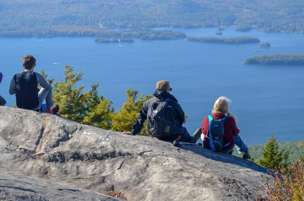hiking in the Adirondack Mountains in New York State